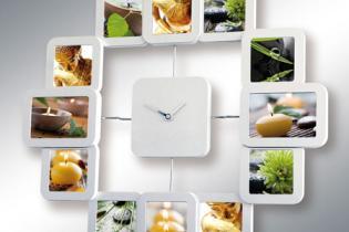 Cornice per foto con orologio