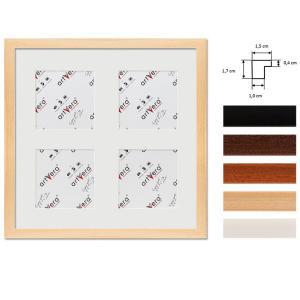 """Cornice galleria per 4 """"Uppsala"""", 30x30 cm - 10x10 cm"""