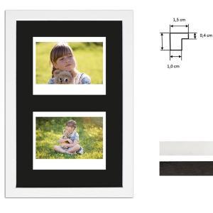 Cornice per 2 immagini istantanee- Typ Instax Wide