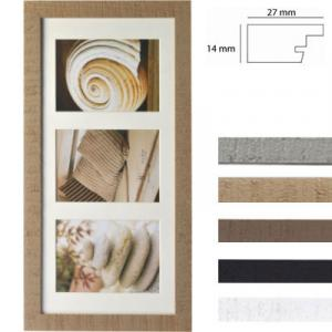 Cornice galleria Driftwood per 3 immagini
