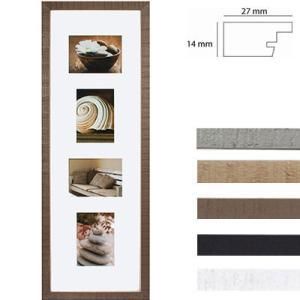 Cornice galleria Driftwood per 4 immagini