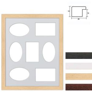 Cornice multipla in legno 40x50 cm per 7 foto