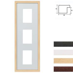 Cornice multipla in legno 23x70 per 3 foto