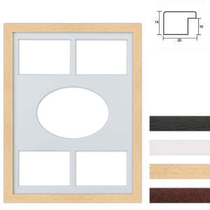 Cornice multipla in legno 30x40 cm per 5 foto