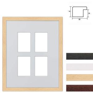 Cornice multipla in legno 40x50 cm per 4 foto