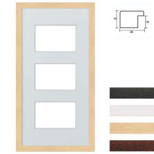 Cornice multipla in legno 25x50 per 3 foto