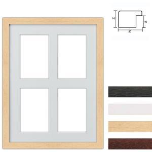 Cornice multipla in legno 30x40 cm per 4 foto