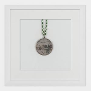 Cornice per medaglie 20x20 cm, bianco