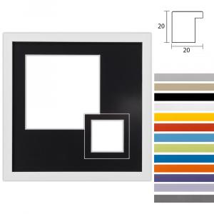 Cornice multipla Top Cube 30x30 cm per 2 foto
