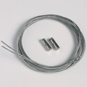 2 pezzi corda d'acciaio 1,3mm/200cm con ganci a vite