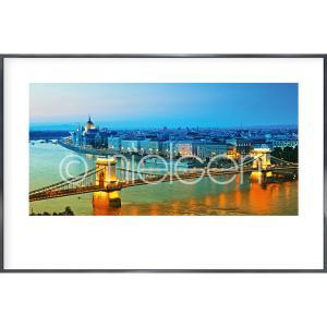 """Immagine incorniciata """"Budapest"""" con cornice in alluminio Alpha"""