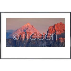 """Immagine incorniciata """"Dolocone Alps"""" con cornice in alluminio Alpha"""