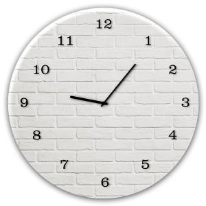 orologio in vetro WHITE BRICK