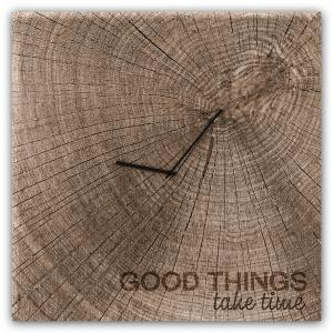 orologio in vetro GOOD TIMES