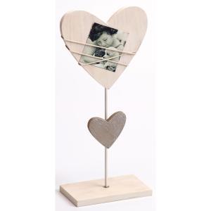 Portafoto Bella a forma di cuore su bastoncino