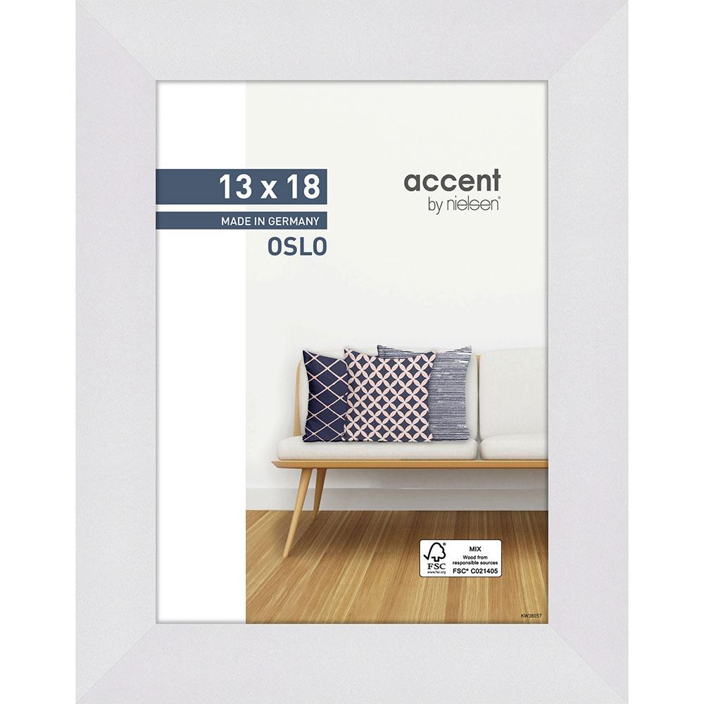 Cornice in legno Oslo 13x18 cm | bianco | Vetro standard
