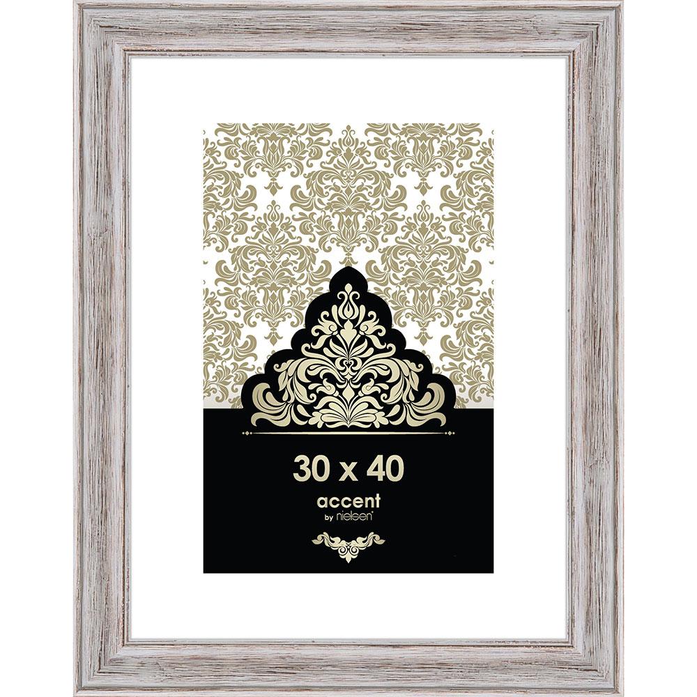 Cornice in legno Vintage 30x40 cm | bianco | vetro standarde