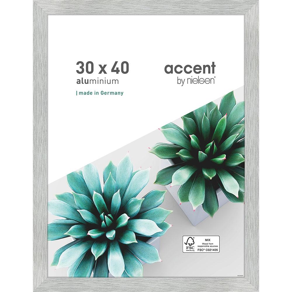 Cornice in alluminio Star 30x40 cm | argento opaco | vetro standarde