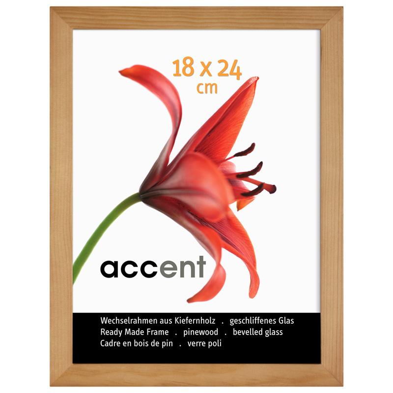 Cornice in legno Wood 60x80 cm | naturale | vetro standarde