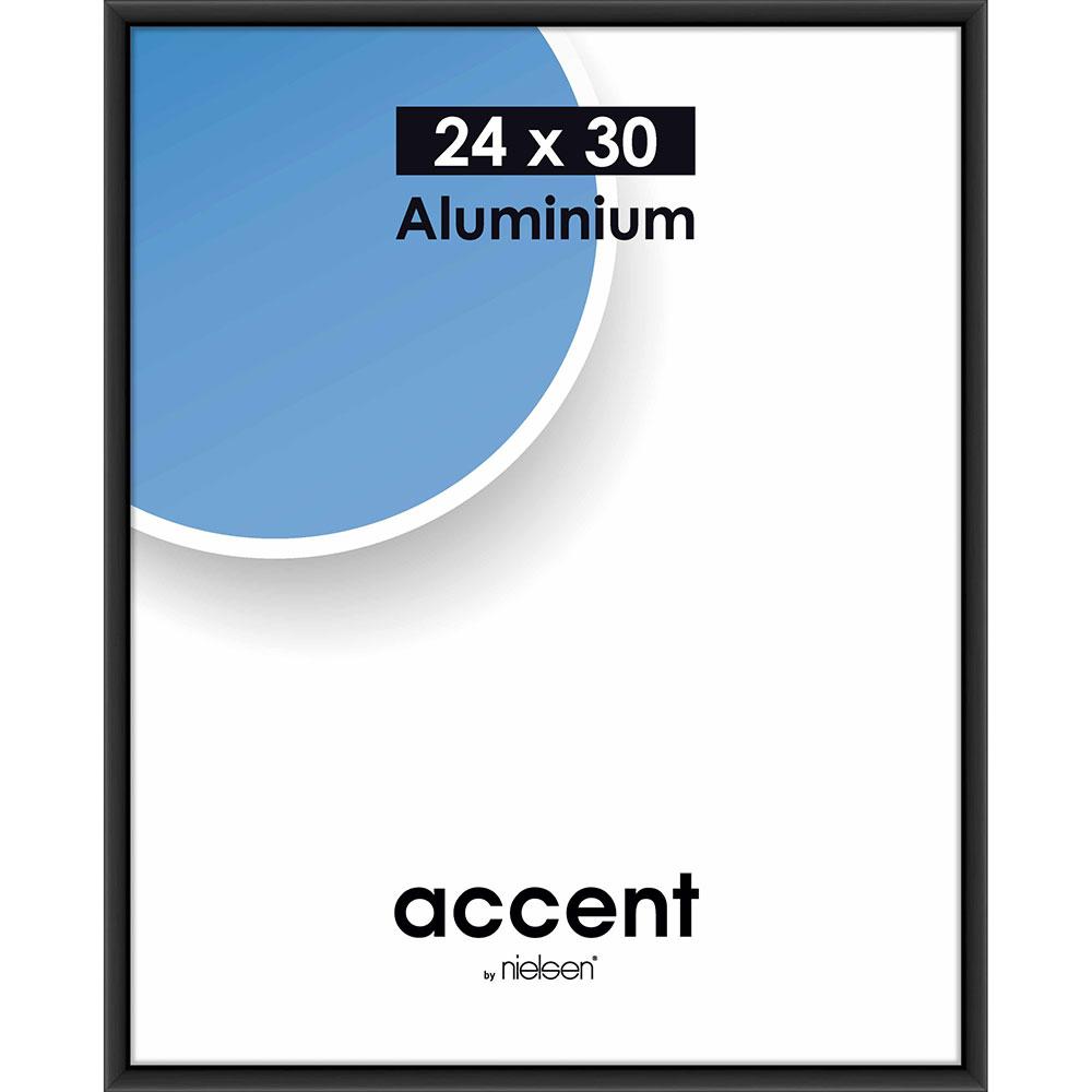 Cornice in alluminio Accent 24x30 cm | nero opaco | vetro standarde
