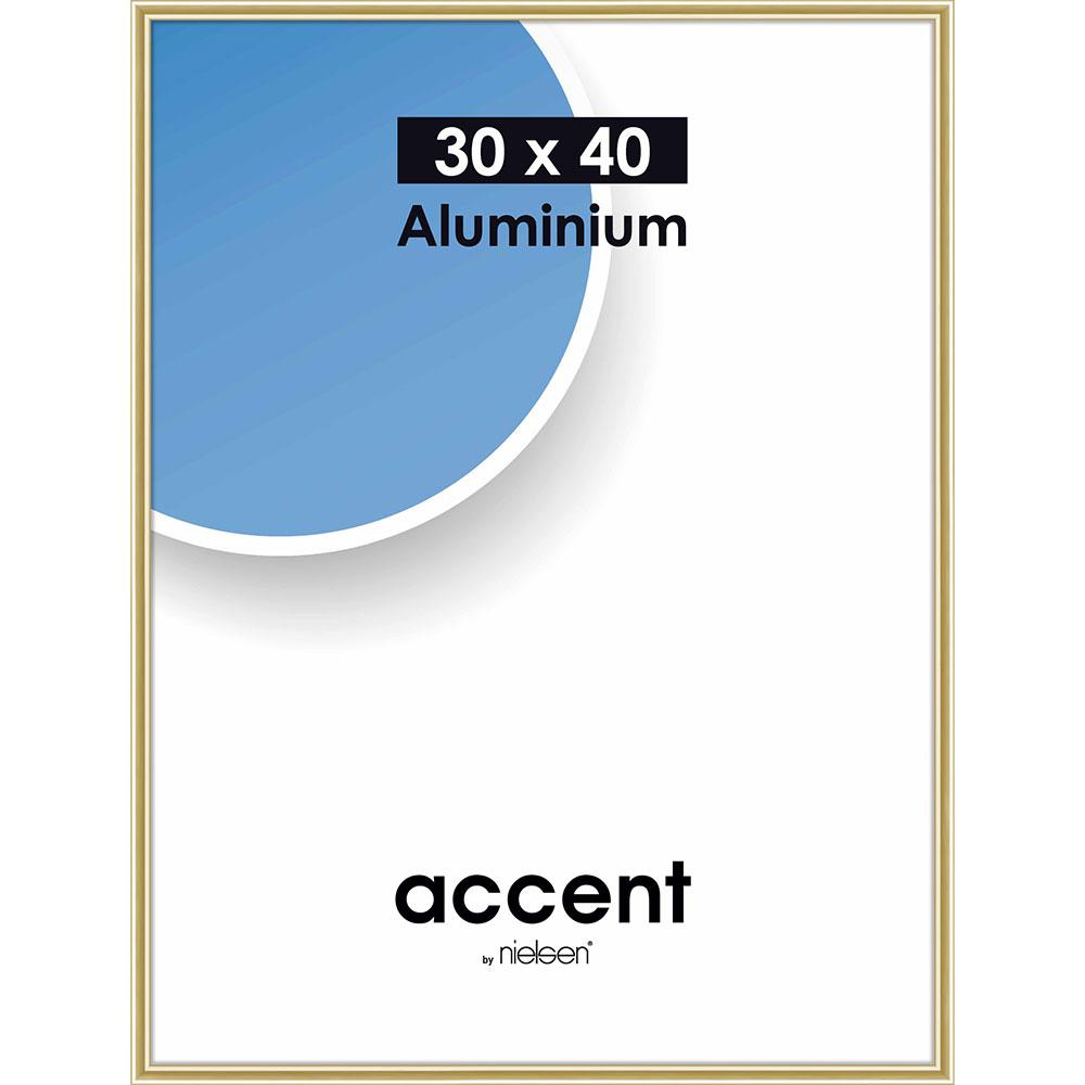 Cornice in alluminio Accent 30x40 cm   oro brillante   vetro standarde
