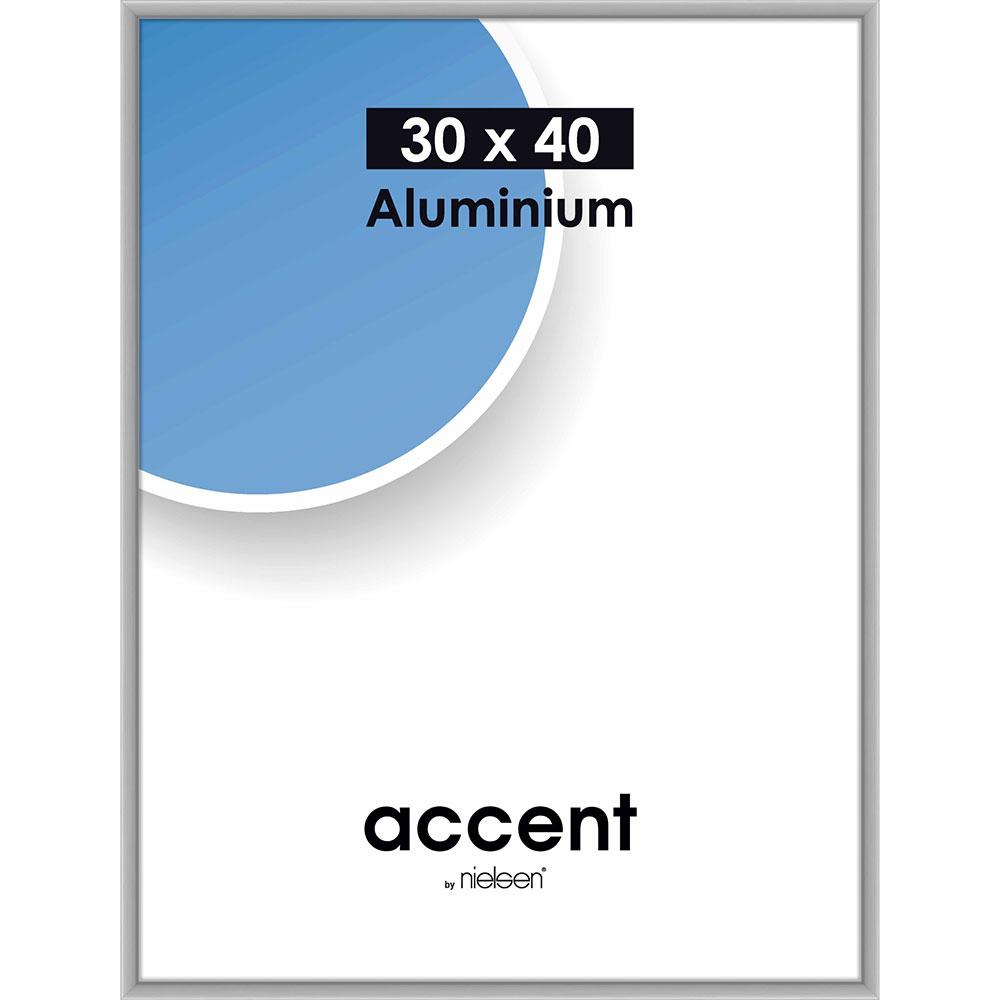 Cornice in alluminio Accent 30x40 cm | argento opaco | vetro standard