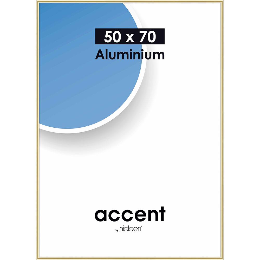 Cornice in alluminio Accent 50x70 cm | oro brillante | vetro standarde