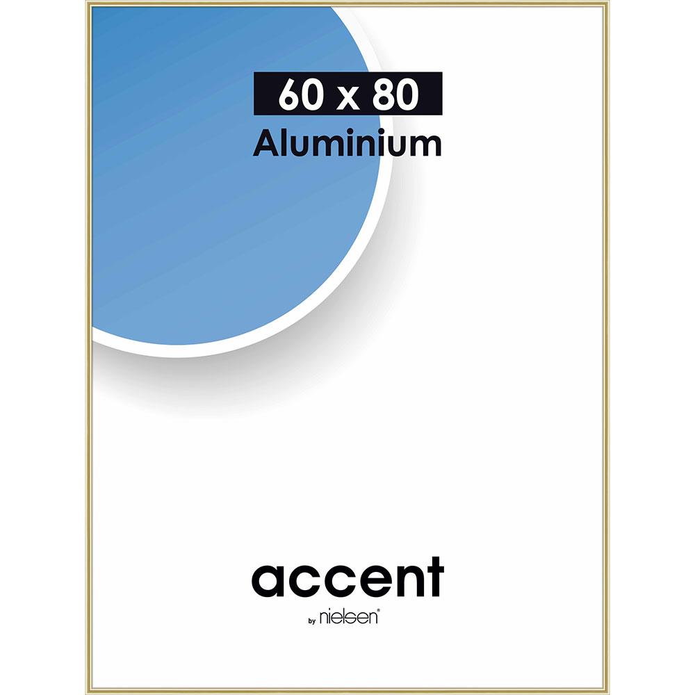 Cornice in alluminio Accent 60x80 cm | oro brillante | vetro normale