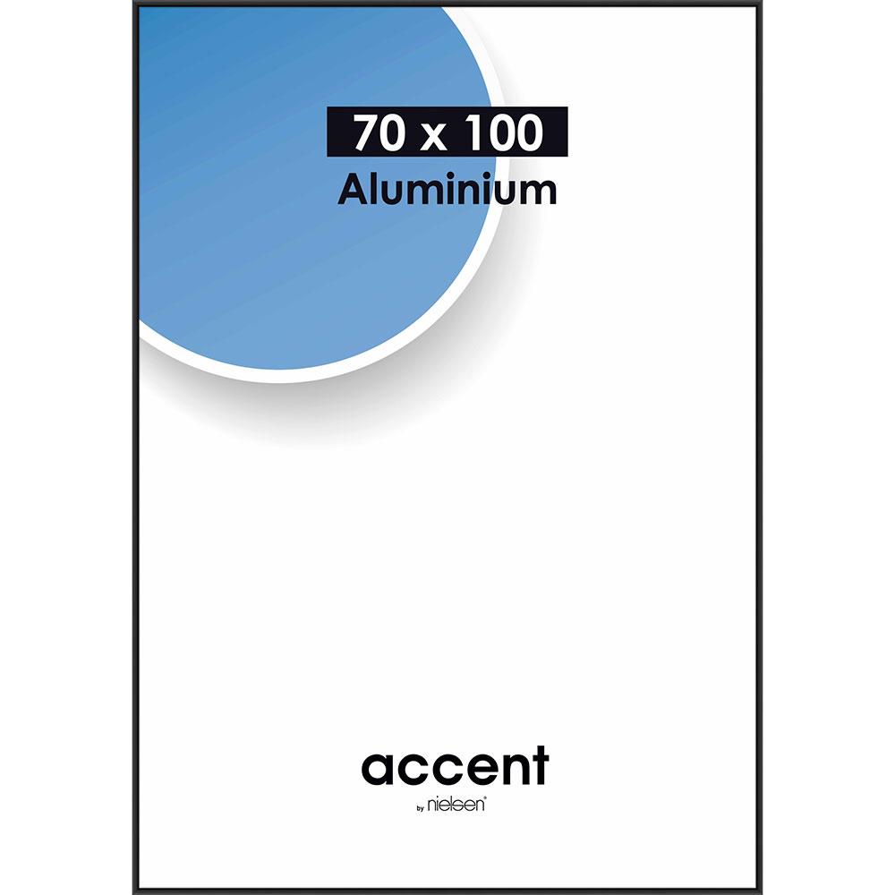 Cornice in alluminio Accent 70x100 cm | nero opaco | vetro standarde