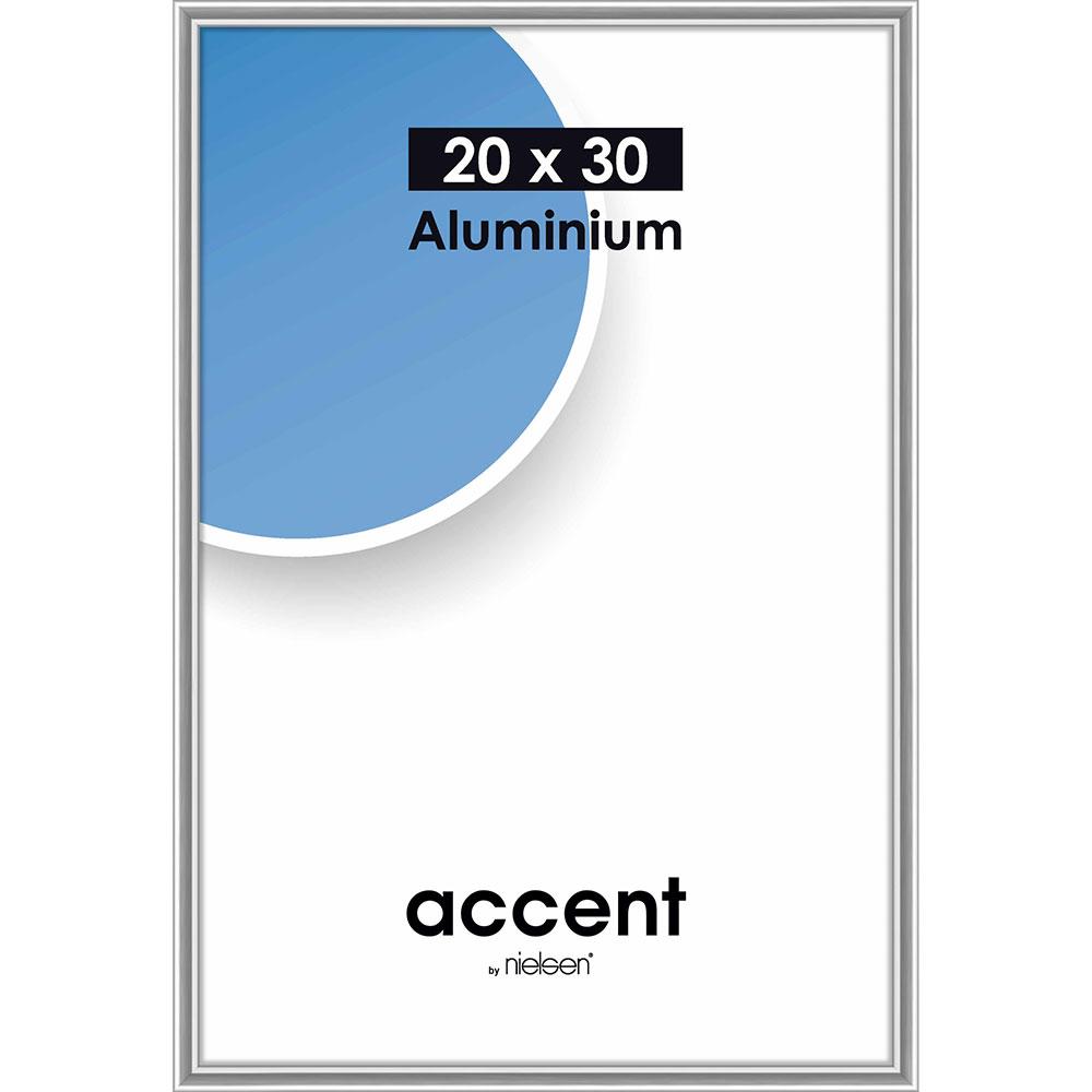 Cornice in alluminio Accent 20x30 cm | argento brillante | vetro standarde