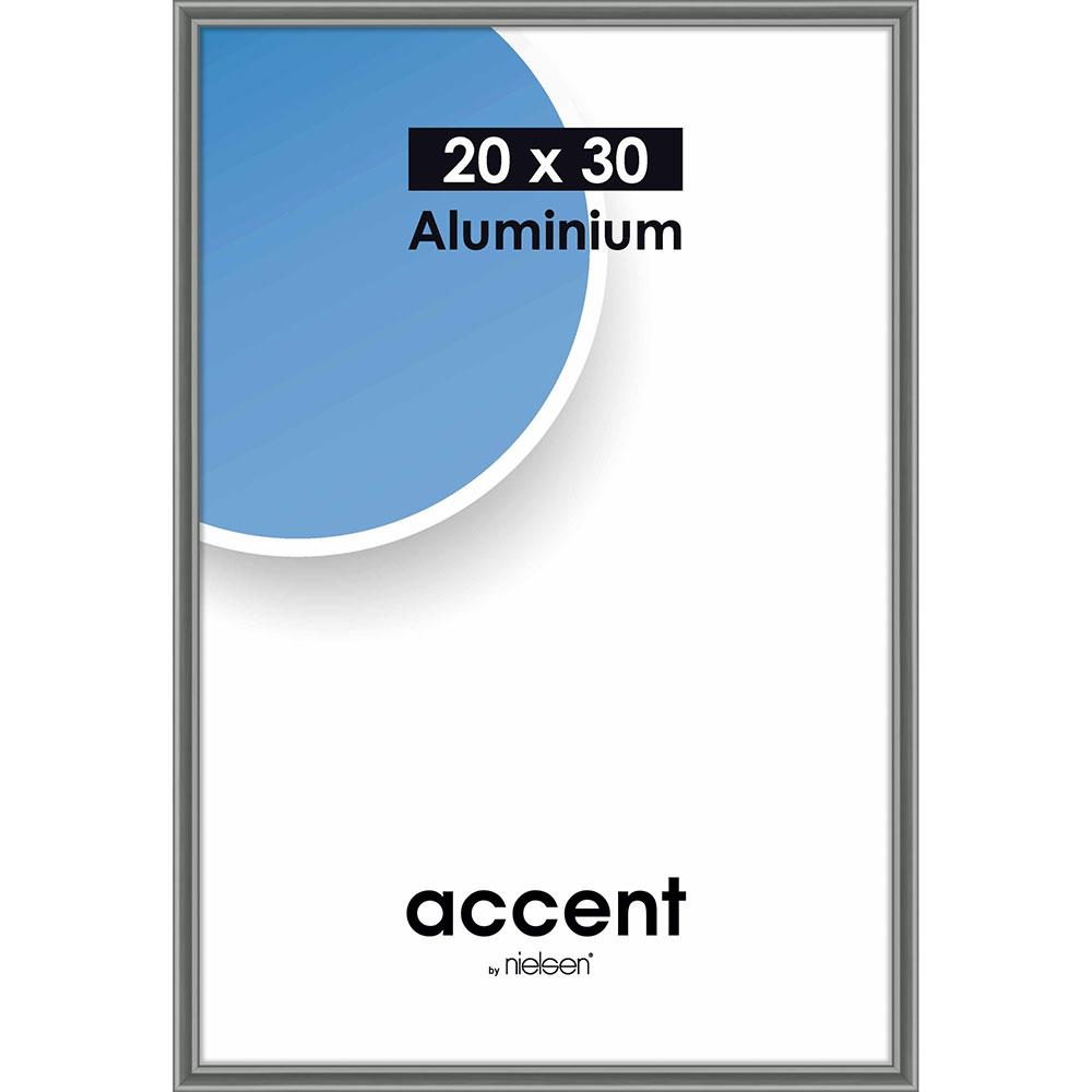 Cornice in alluminio Accent 20x30 cm | grigio acciaio | vetro standarde