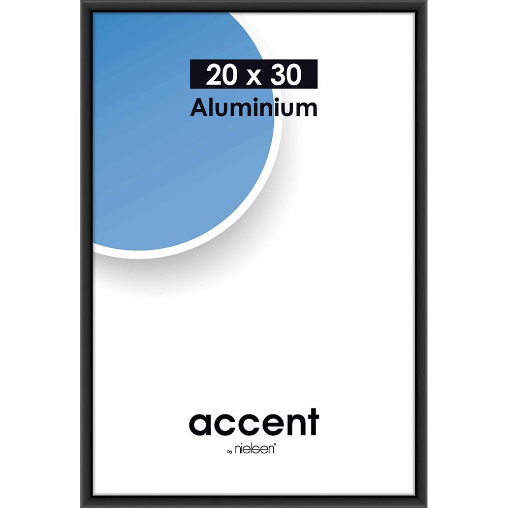 Cornice in alluminio Accent 20x30 cm | nero opaco | vetro standarde