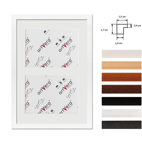 """Cornice galleria per 2 """"Uppsala"""", 25x35 cm - 13x18 cm"""