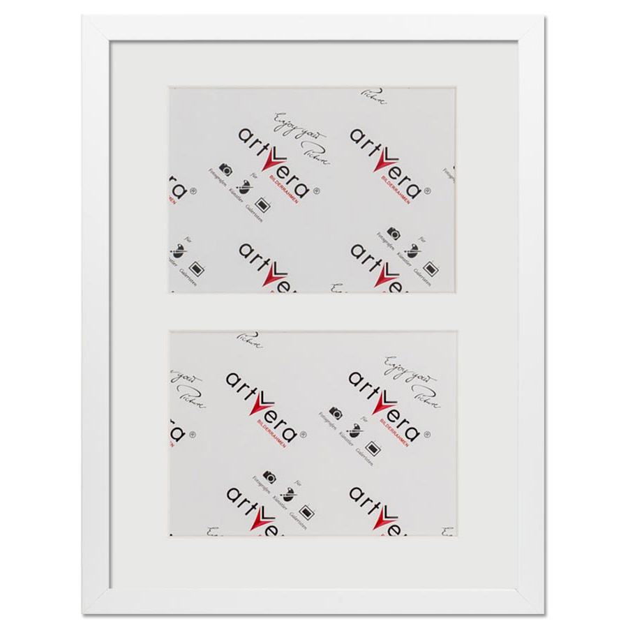 "Cornice galleria per 2 ""Uppsala"", 30x40 cm - 15x20 cm 30x40 cm (2 Ausschnitte in 15x20) | bianco | vetro standarde"