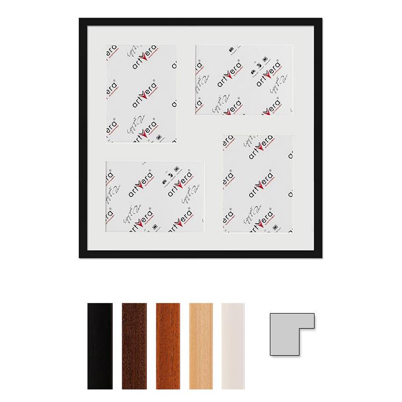 """Cornice galleria per 4 """"Uppsala"""", 50x50 cm - 15x20 cm"""
