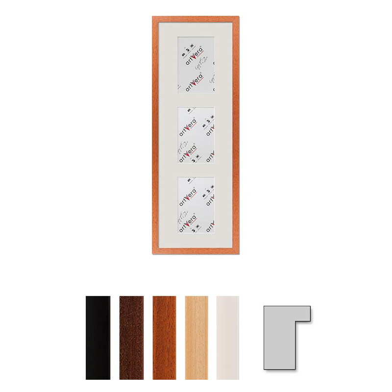 "Cornice galleria per 3 ""Lund"", 20x60 cm - 10x15 cm"