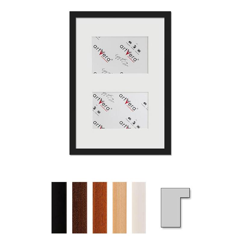 "Cornice galleria per 2 ""Lund"", 25x35 cm - 10x15 cm"