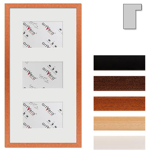"Cornice galleria per 3 ""Lund"", 25x50 cm - 10x15 cm"