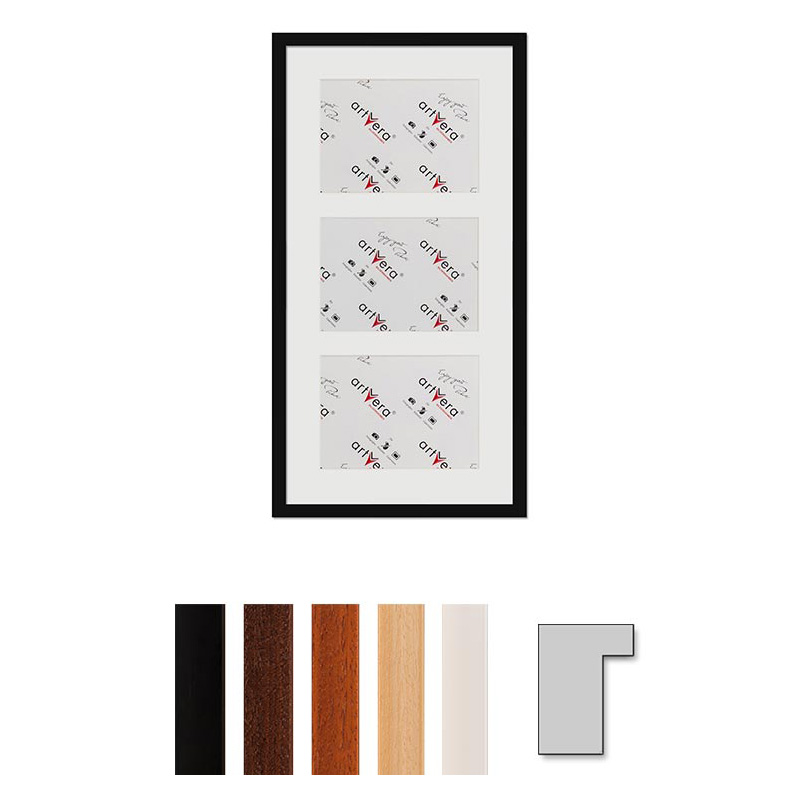 "Cornice galleria per 3 ""Lund"", 30x60 cm - 15x20 cm"