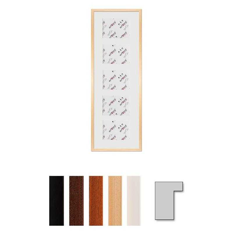 "Cornice galleria per 5 ""Lund"", 30x90 cm - 13x18 cm"