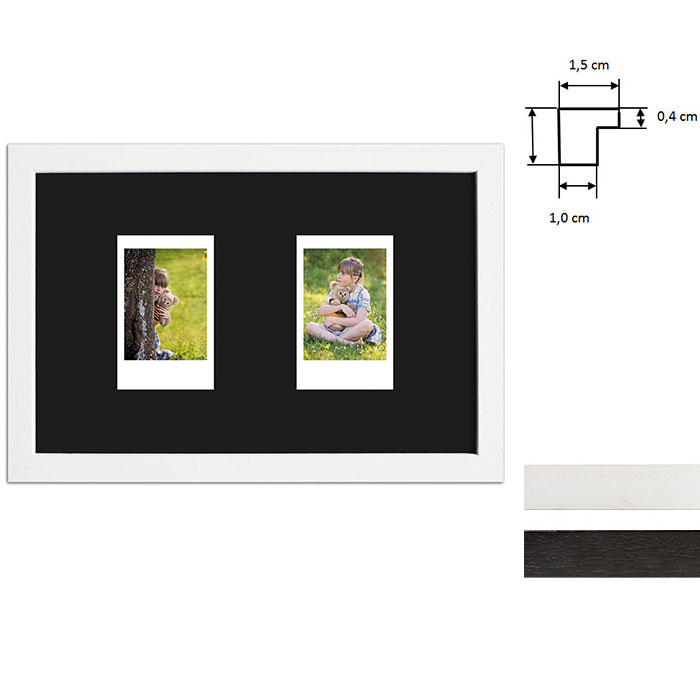 Cornice per 2 immagini istantanee- Typ Instax Mini