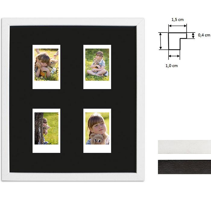 Cornice per 4 immagini istantanee- Typ Instax Mini