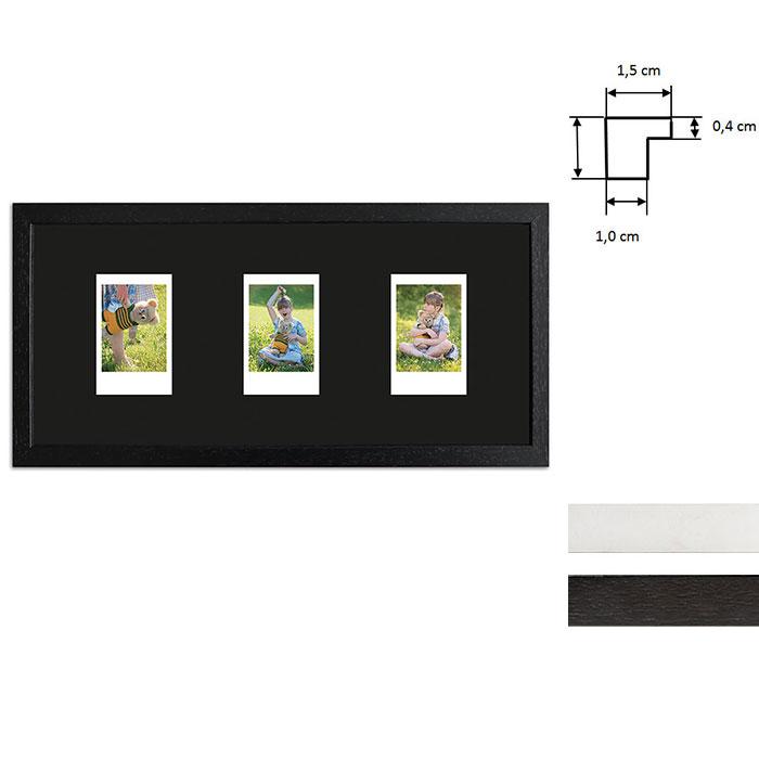 Cornice per 3 immagini istantanee- Typ Instax Mini