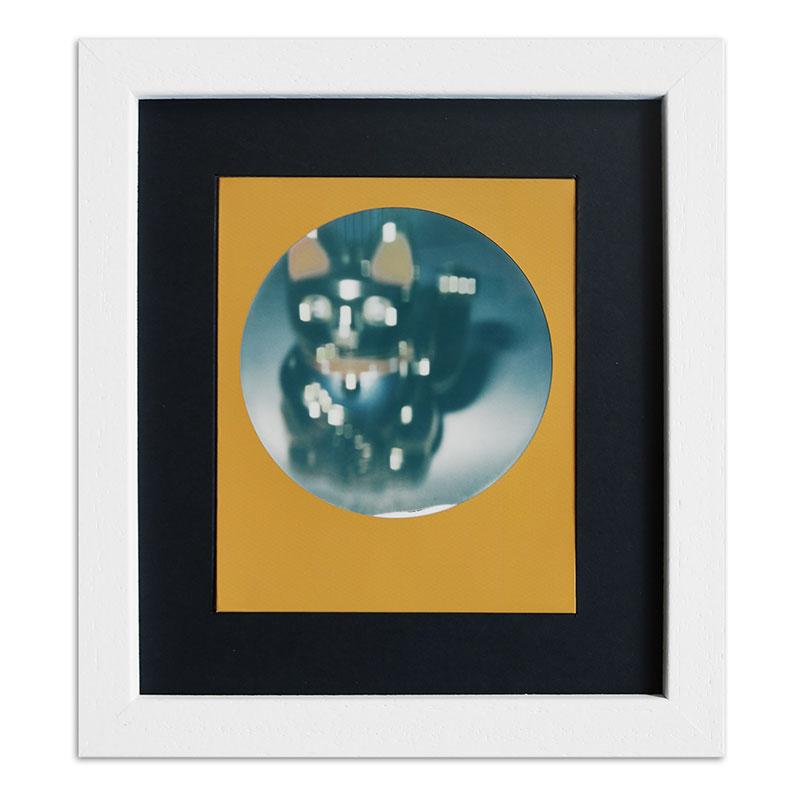 Cornice per 1 immagine istantanea - Typ Polaroid 600 13,8x15,7 cm | bianco, venato | vetro standarde