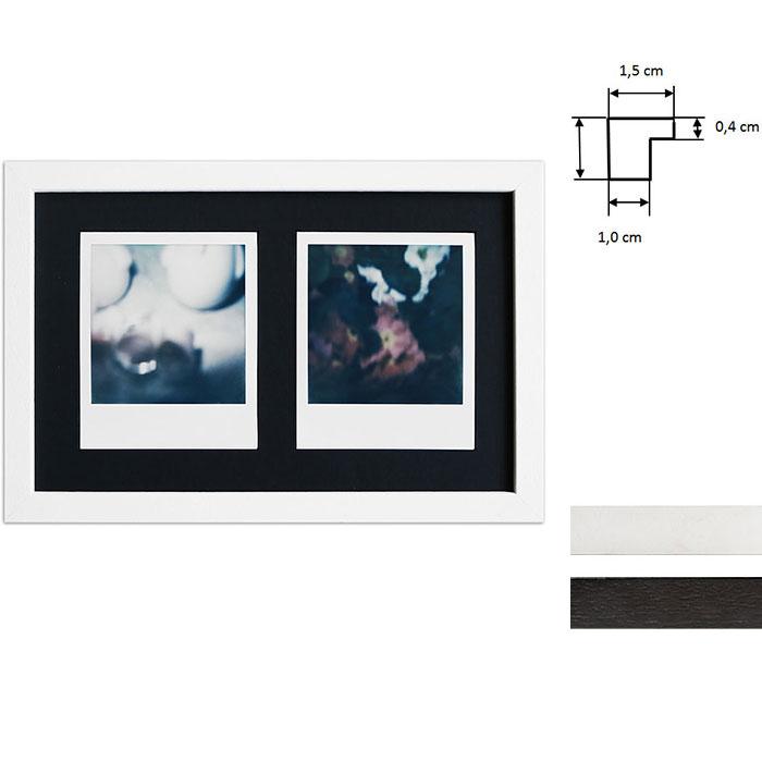 Cornice per 2 immagini istantanee- Typ Polaroid 600