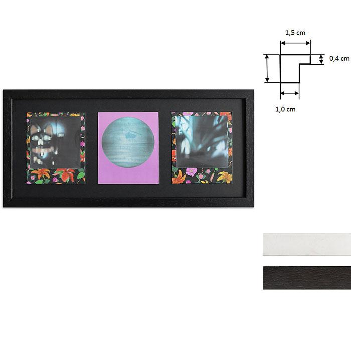 Cornice per 3 immagini istantanee- Typ Polaroid 600