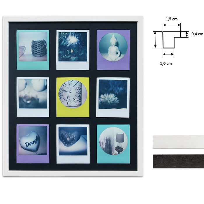 Cornice per 9 immagini istantanee- Typ Polaroid 600