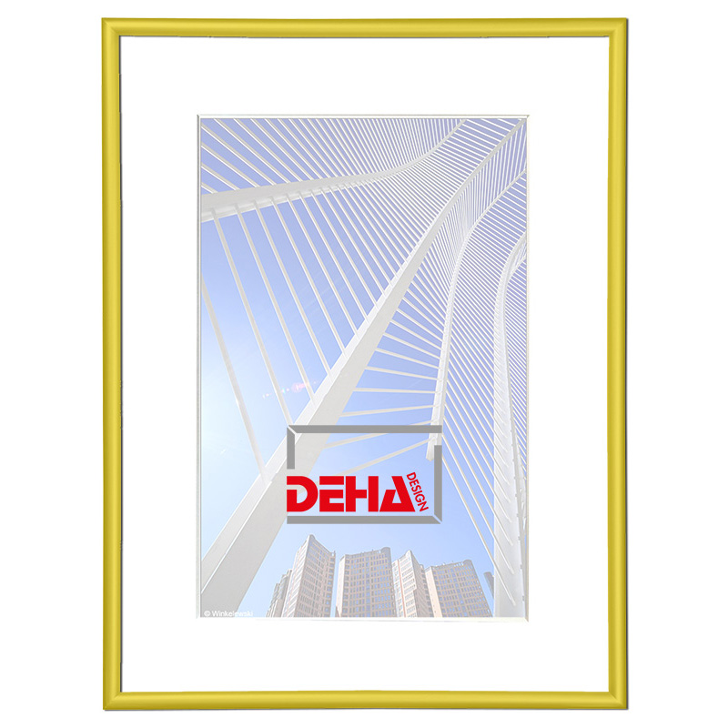 Cornice in alluminio Regulus 20x28 cm   giallo 1021   vetro normale
