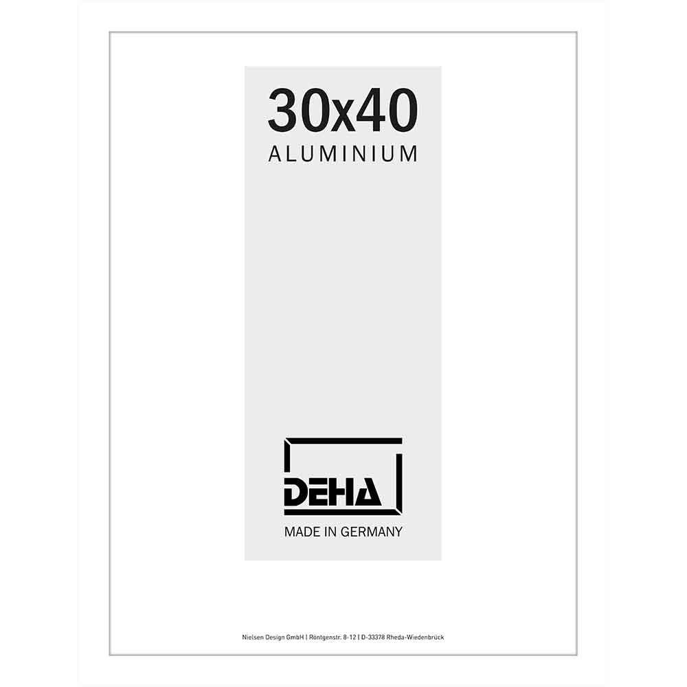 Cornice in alluminio Lukida 20x28 cm | bianco RAL 9016 | vetro standarde