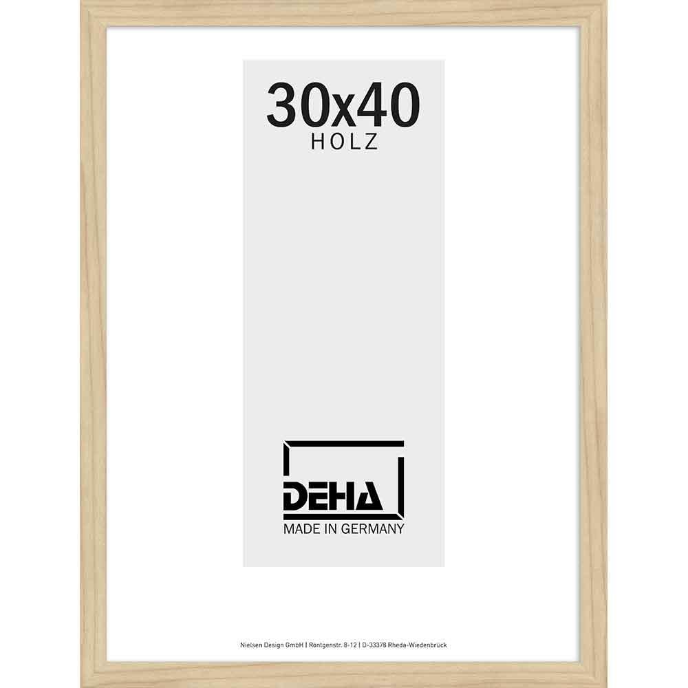 Cornice in legno Nemesis 60x70 cm | acero naturale velato | vetro artificiale